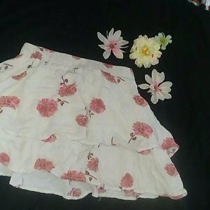 Cute Floral Mini Skirt